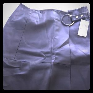 NWT Michael Kors faux leather skirt